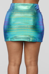Aurora Iridescent Skirt - Blue