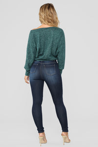 Lets Talk About Love Skinny Jeans - Dark Denim