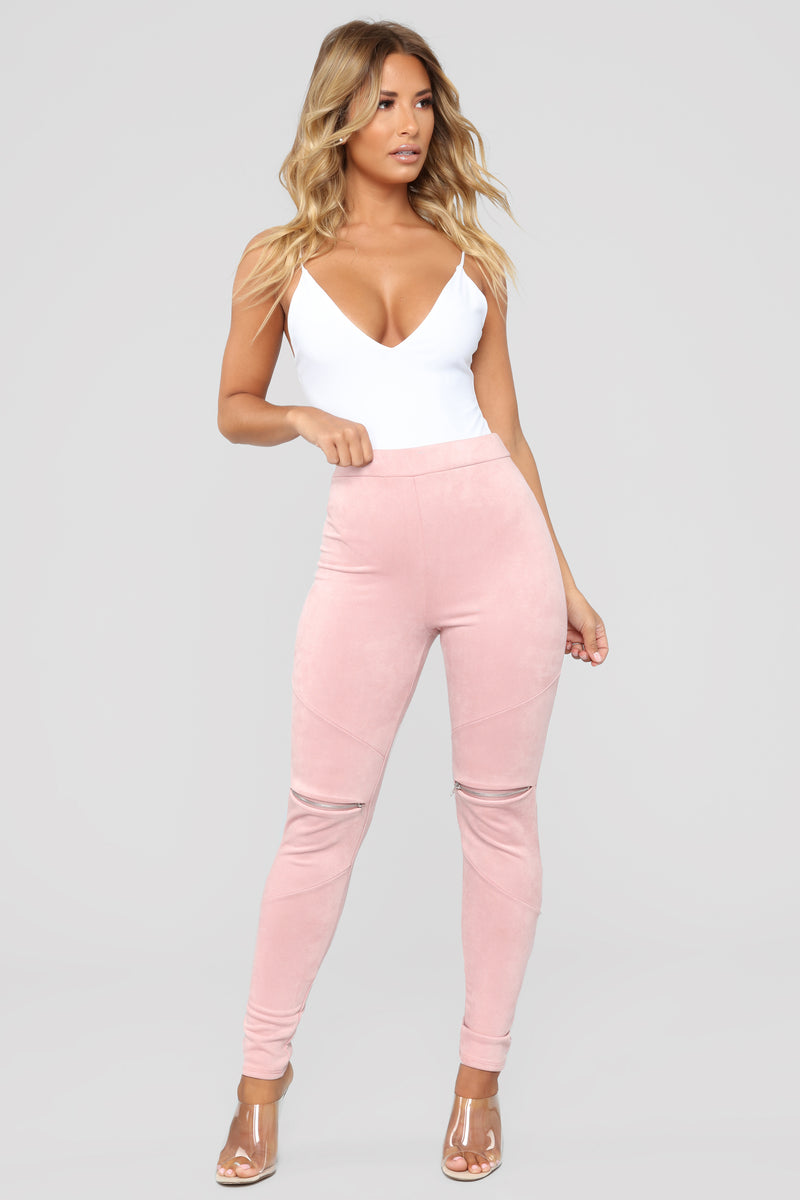 All Time Fave Suede Leggings - Rose Wood