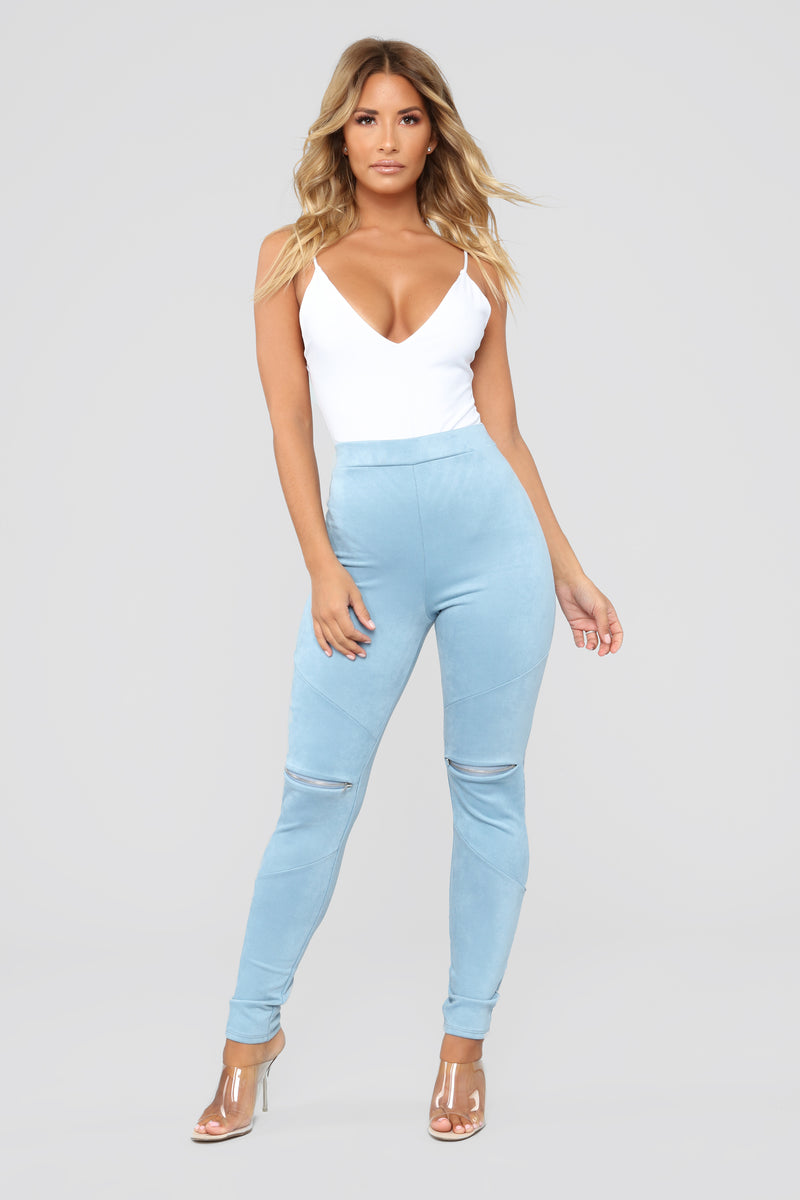 All Time Fave Suede Leggings - Chambray