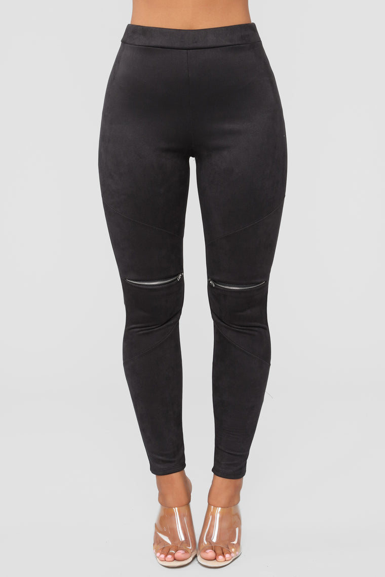 All Time Fave Suede Leggings - Black
