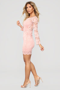 Marnie Lace Dress - Mauve