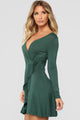 Sondra Wrap Dress - Hunter Green