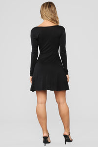 Sondra Wrap Dress - Black