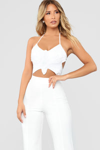 Mariah Sequin Top - White