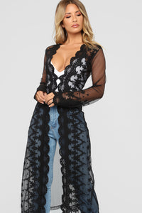 Got You On My Mind Kimono - Black