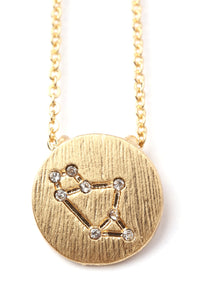 Sagittarius Star Power Necklace - Gold