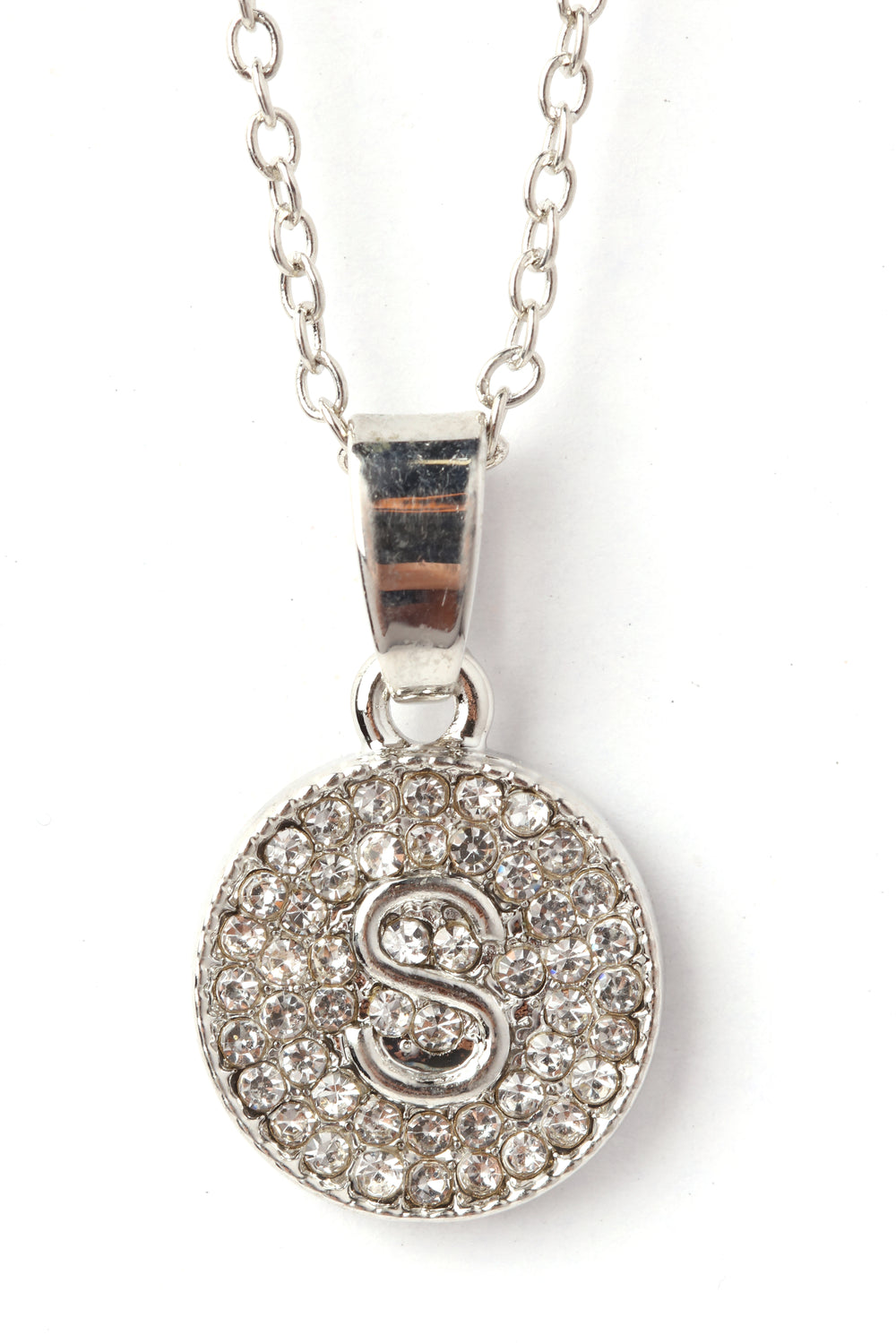 Chic And Unique 'S' Necklace - Silver