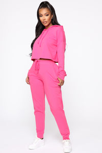 Latest And Greatest French Terry Jogger - Pink