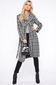 Lexxie Trench Coat - Black/White