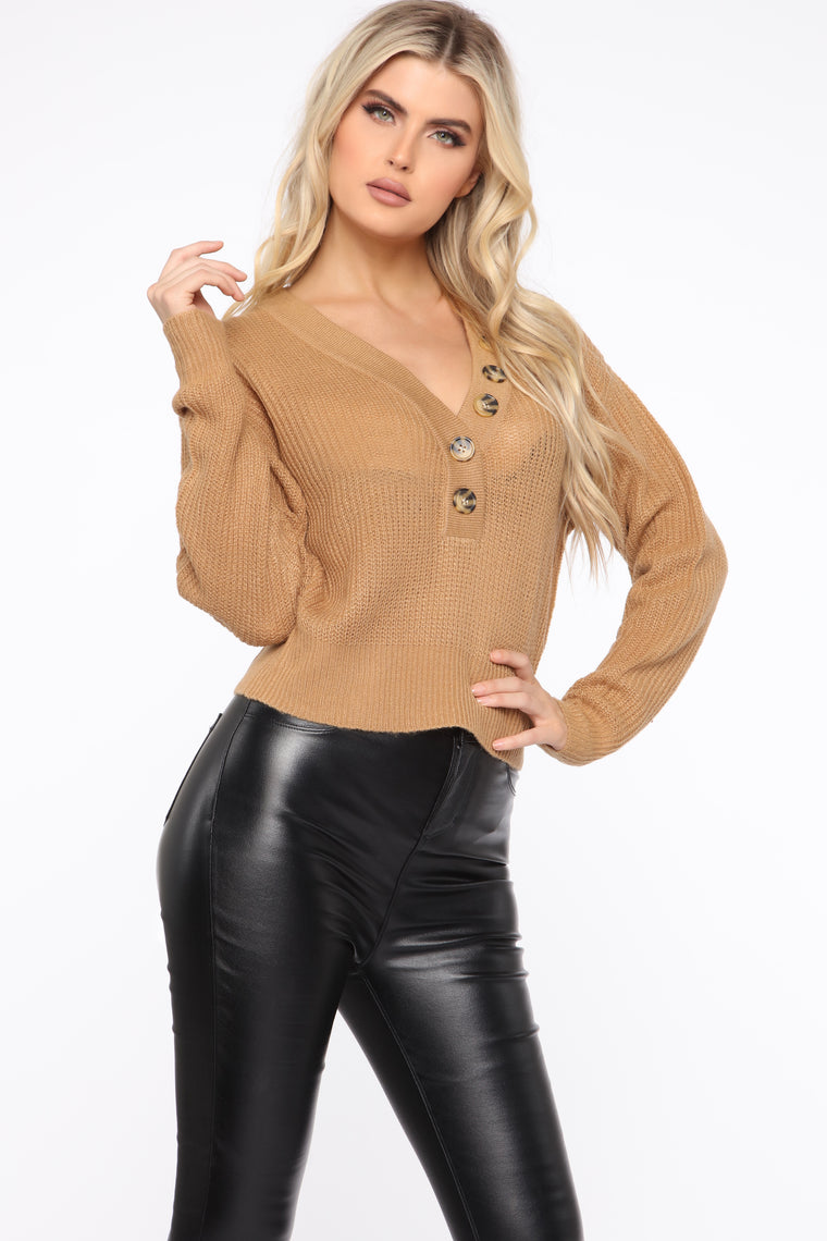Spicing Things Up Sweater - Camel