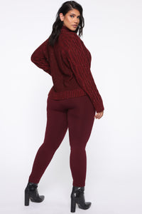 I Feel It Coming Sweater - Burgundy Angle 10