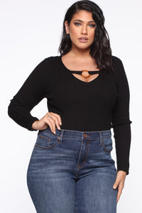 I'm All About It Top - Black Angle 1