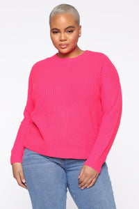 Always Remember Convertible Sweater - Neon Pink Angle 1