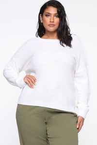 Always Remember Convertible Sweater - White