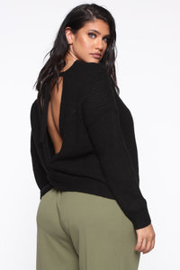 Always Remember Convertible Sweater - Black