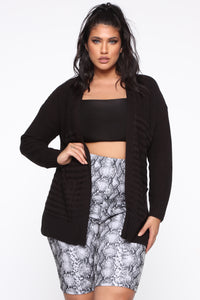 Found Out Again Cardigan - Black