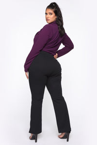 It's Business Bodysuit - Eggplant Angle 5