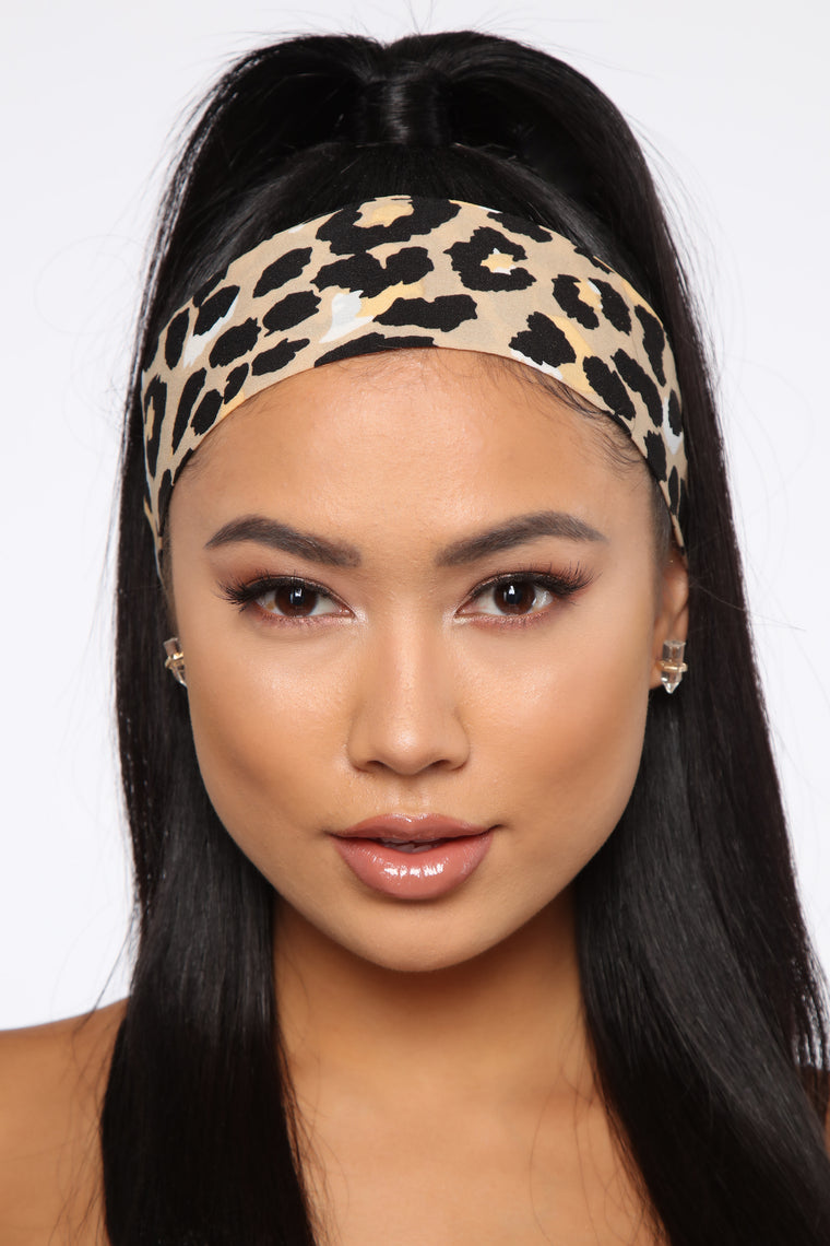All For You Skinny Head Scarf - Leopard