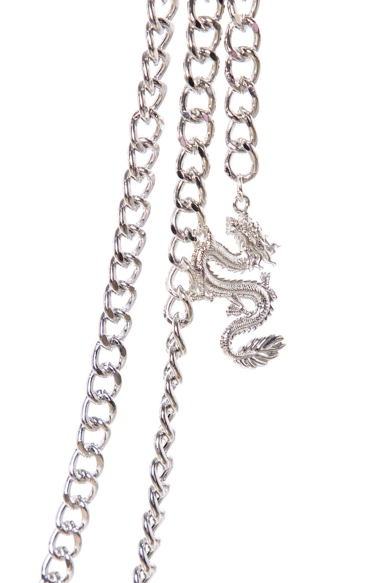 Dragon Slayer Belly Chain - Silver