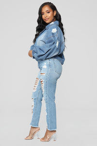 Here Forever Denim Jacket - Medium Wash