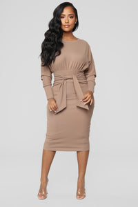 Never Too Soft Dress - Taupe