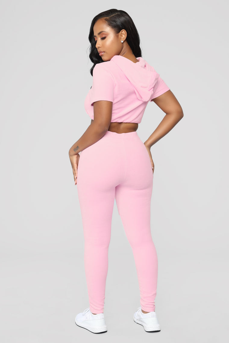 Vibe Velour Lounge Set - Pink