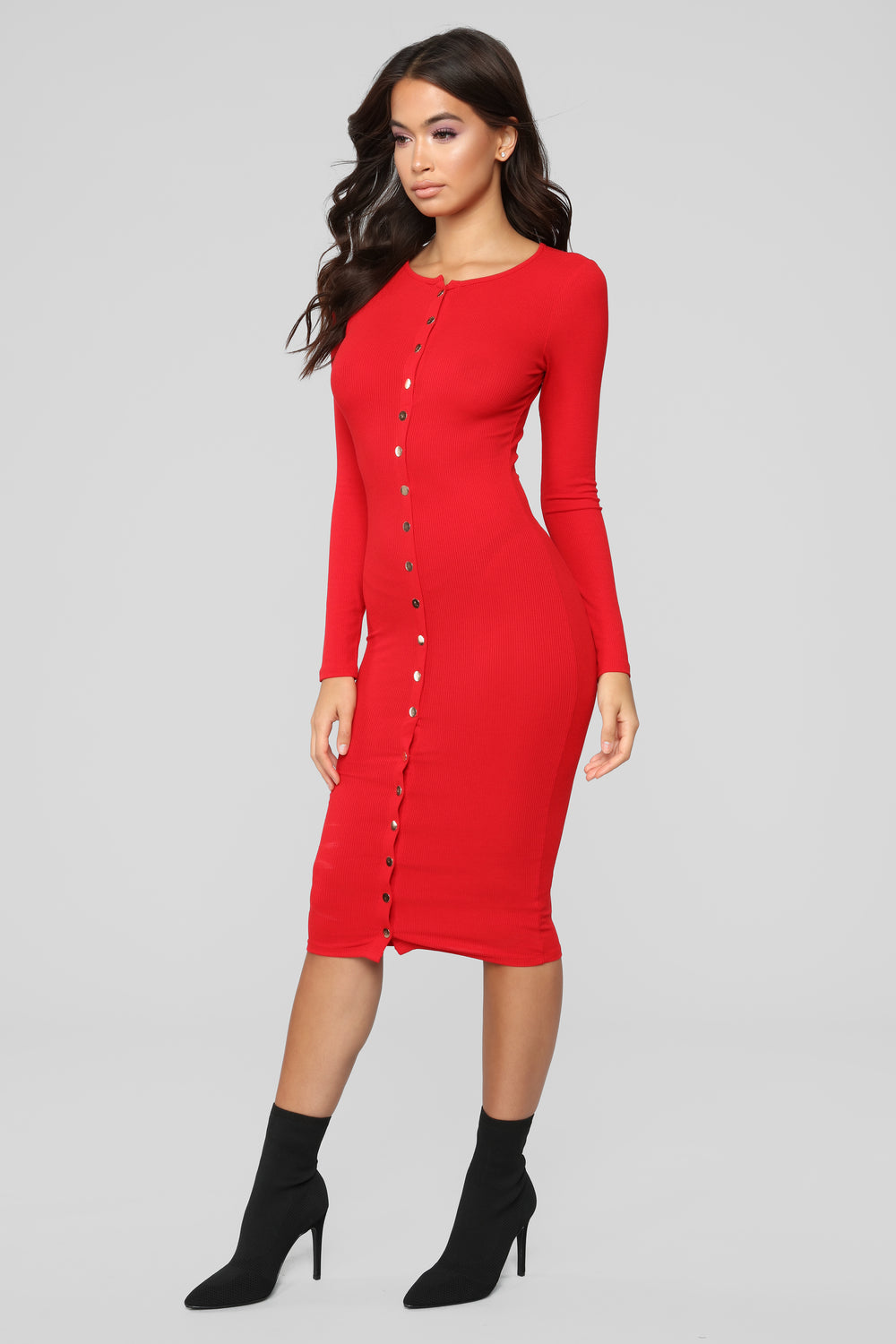 Call It Puppy Love Dress - Red