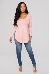 Odyssey Side Slit Top - Mauve