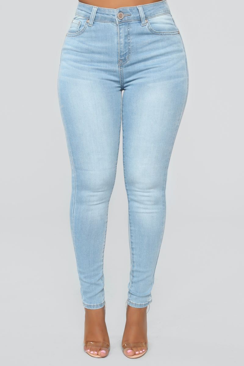 Lets Talk About Love Skinny Jeans - Light Blue Wash