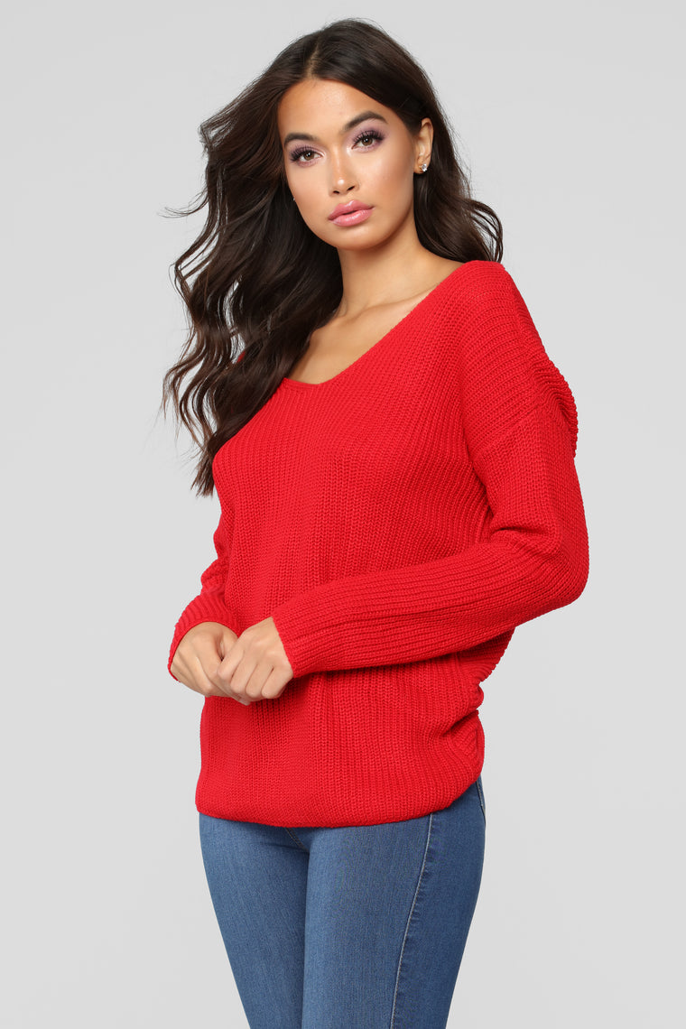 Autumn's Favorite Girl Sweater - Red