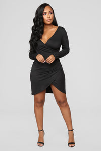 Celene Wrap Dress - Black