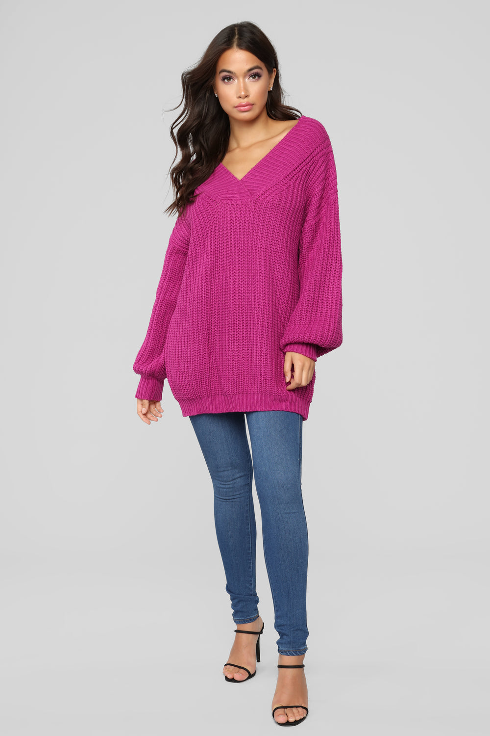 Let's Snuggle Tunic Sweater - Magenta