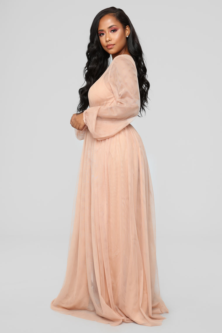 Lacey Sunday Maxi Dress - Nude