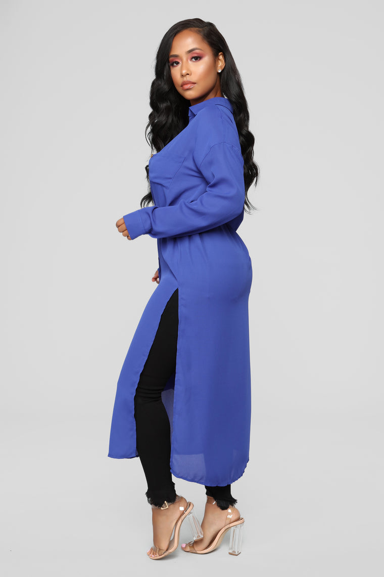 Marybel II Longline Shirt - Royal