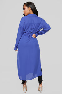 Marybel II Longline Shirt - Royal Angle 5