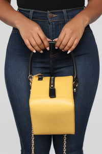 A Square Deal Handbag - Mustard