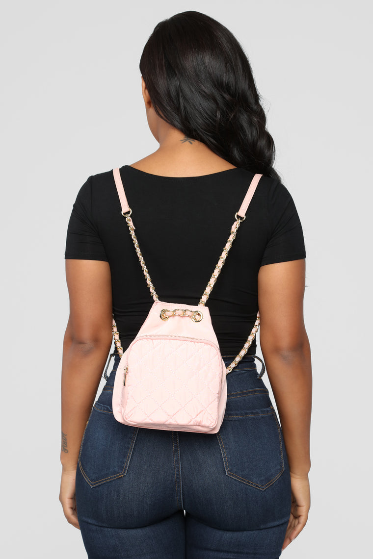 Quilt Bothering Me Backpack - Pink