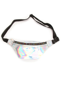 Crying Unicorn Fanny Pack - Silver