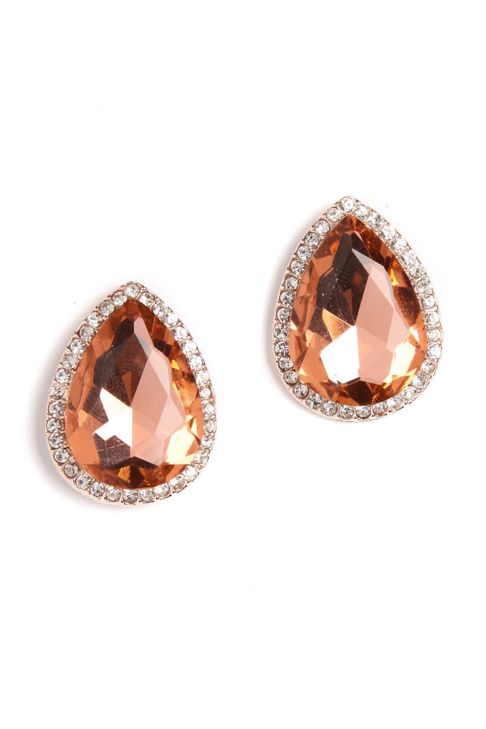 Gemma Stone Earrings - Pink