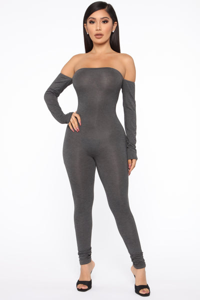 Long Sleeves Off the Shoulder Jumpsuit