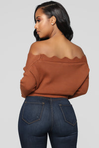 Finding Love Sweater - Cognac Angle 6