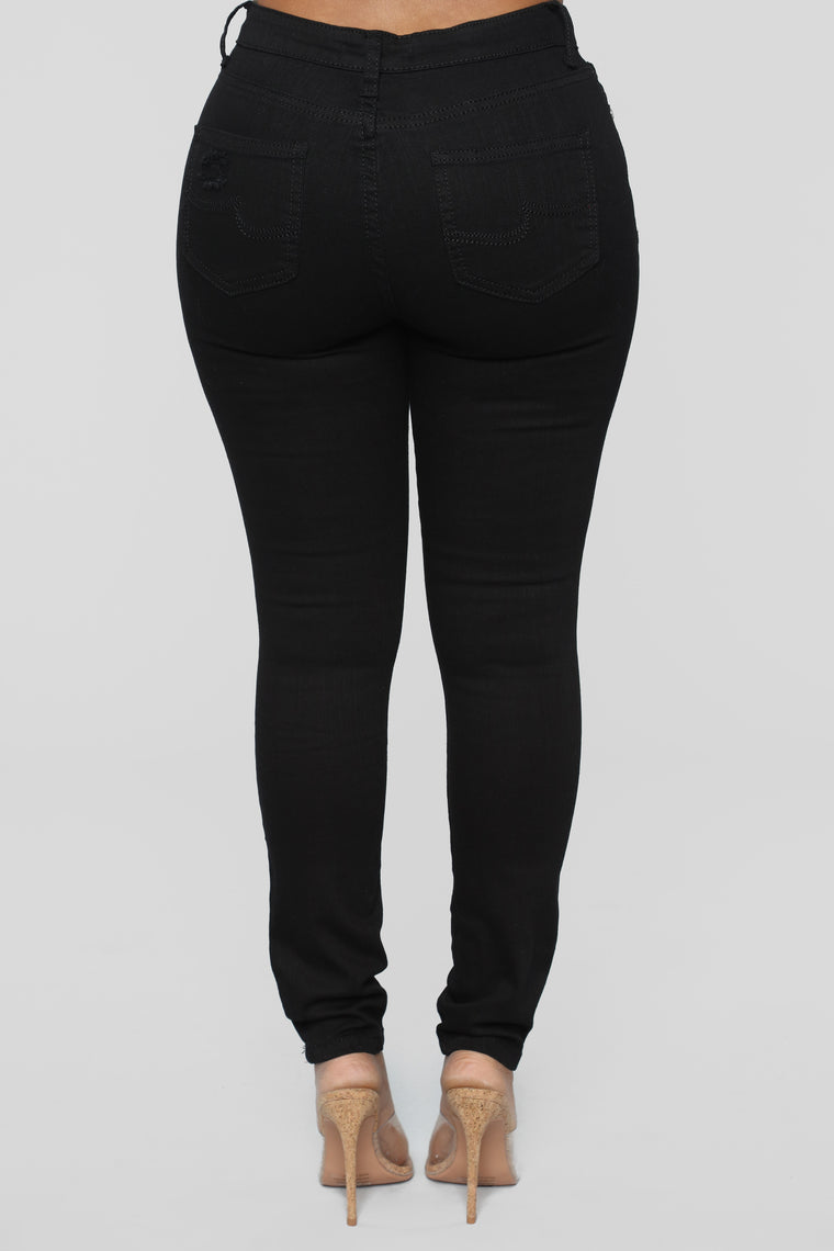 Take Me Back Skinny Jeans - Black
