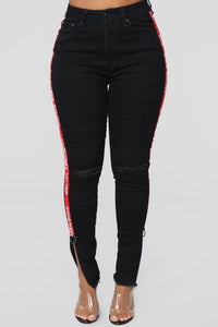Get This Feeling High Rise Ankle Jeans - Black