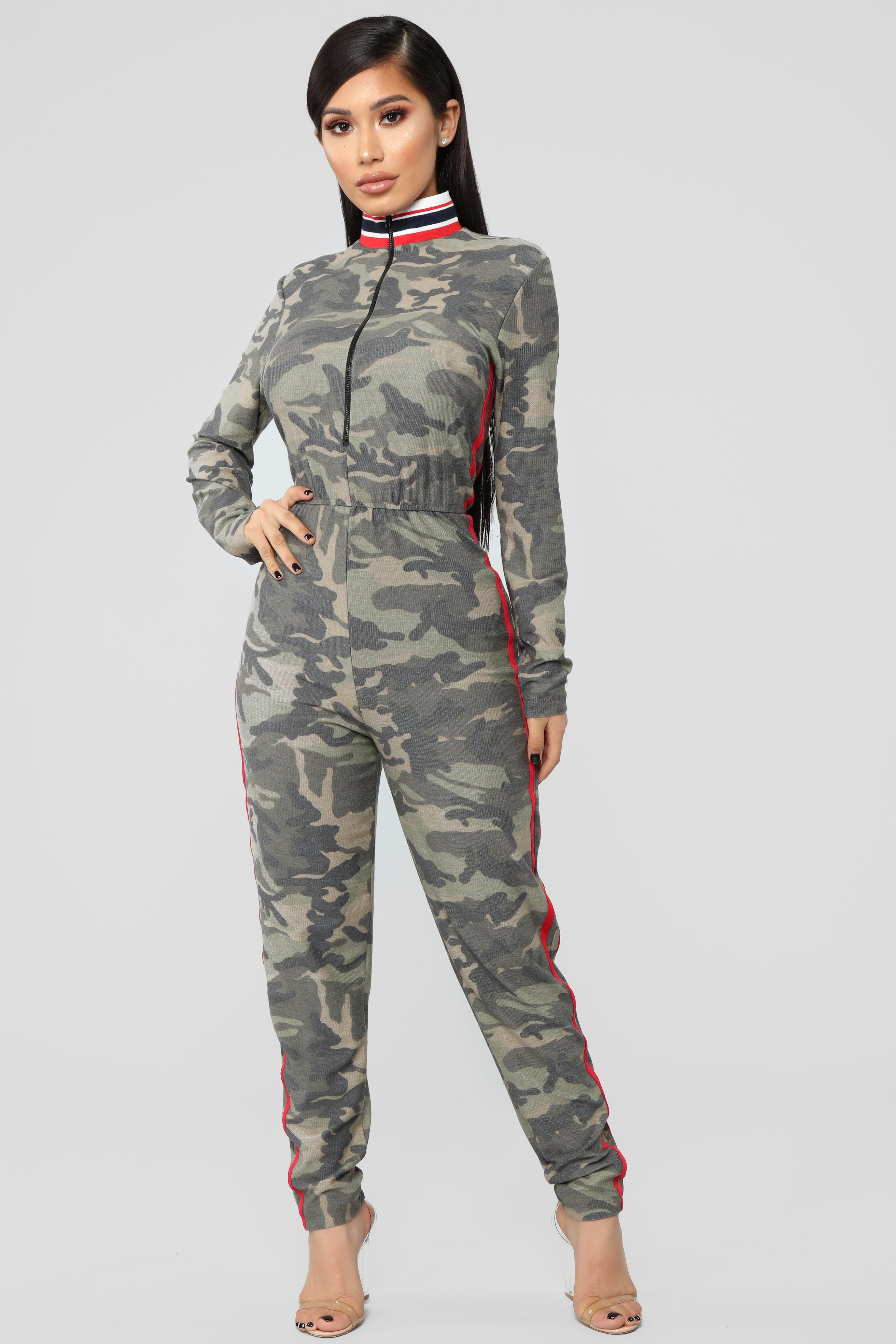 791932b2bf Hiding In Plain Sight Jumpsuit - Olive