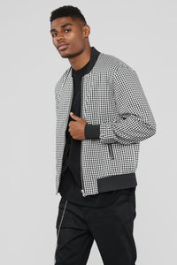 Parker Casual Jacket - Black/White