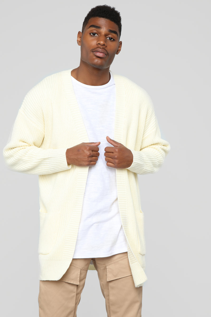 Oversized Cardigan Sweater - Cream