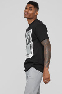 Walk In Silence Short Sleeve Tee - Black