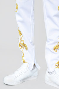 The Royal Track Pants - White