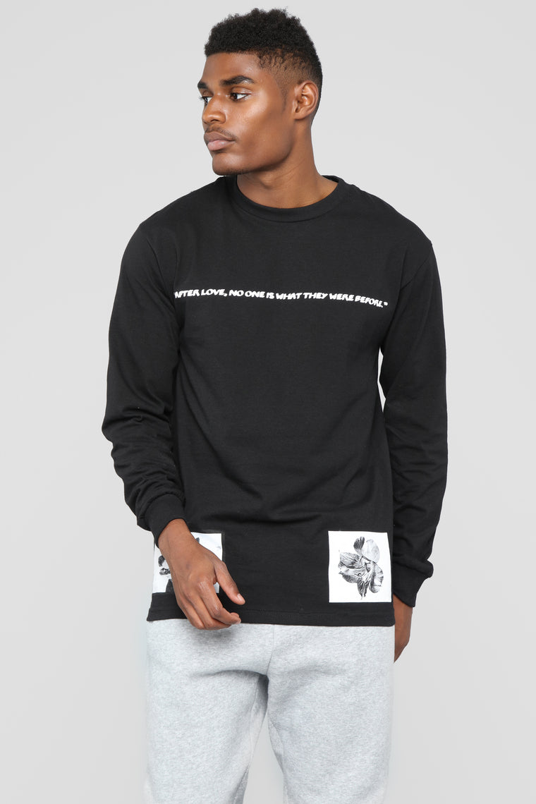 After Love Long Sleeve Tee - Black